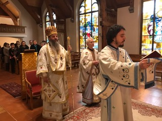 Посета епископа Андреја франкофонској парохији  Светог Маријуса и Светог Григорија Паламе у Лозани